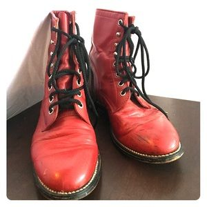 Justin red vintage boots